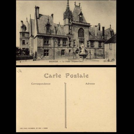 Carte postale 18 - Bourges - Le Palais de Jacques Coeur