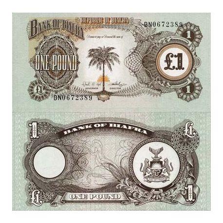 Billet de banque Biafra Pk N° 5 - 1 Pound
