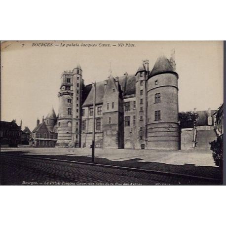 Carte postale 18 - Bourges - Le Palais Jacques Coeur - Non voyage - Dos divise...