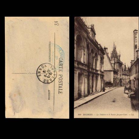Carte postale 18 - Bourges - Le theatre et le palais Jacques Coeur