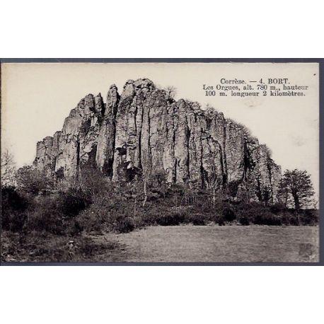 Carte postale 19 - Bort - Les Orgues - Non voyage - Dos divise...