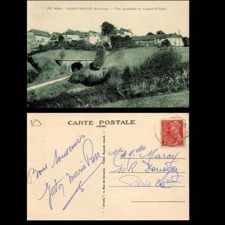 Carte postale 19 - Saint Solve - Vue generale en venant d'Objat