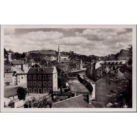 Carte postale 19 - Tulle - Panorama sur la Correze - Voyage - Dos divise...