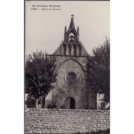 Carte postale 19 - Ussel - Eglise des Penitents - Non voyage - Dos divise...
