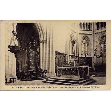 Carte postale 21 - Dijon - Cathedrale Saint-Benigne - Autel Majeur et Boiseries ( XVIIeme si