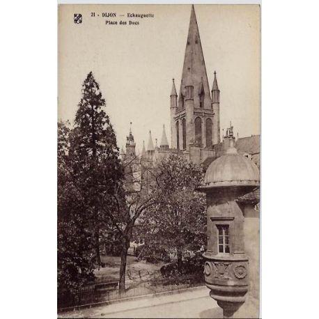 Carte postale 21 - Dijon - Echauguette - Place des Ducs - Non voyage - Dos divise