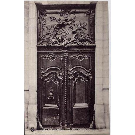 Carte postale 21 - Dijon - Ecole saint-Francois de Sales - Porte Louis XV - Non voyage - Dos