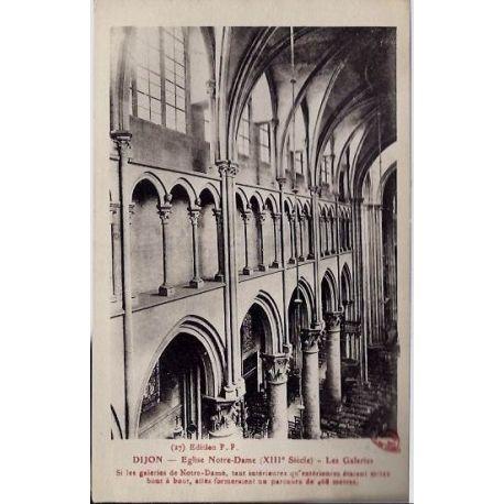 Carte postale 21 - Dijon - Eglise notre-Dame ( XIIIme siecle ) - Les galeries - Non voyage -