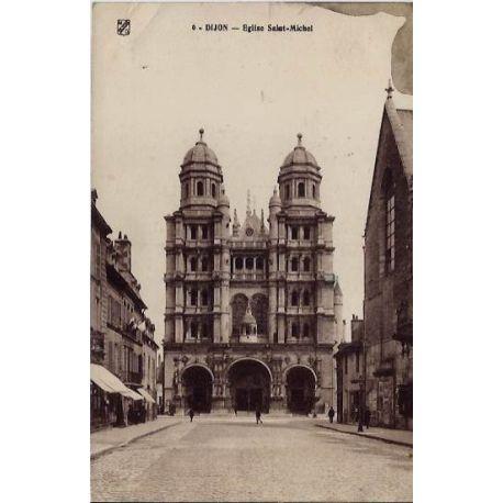 Carte postale 21 - Dijon - Eglise Saint-Michel - Voyage - Dos divise