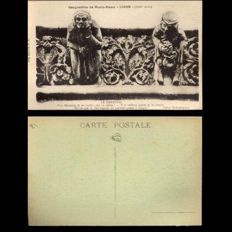 Carte postale 21 - Dijon - Gargouilles de Notre dame - Le Bareuzai