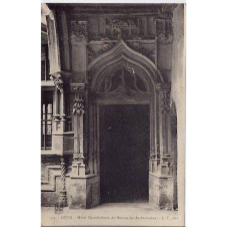 Carte postale 21 - Dijon - Hotel Chambelland, dit maison des Ambassadeurs - Non voyage - Dos