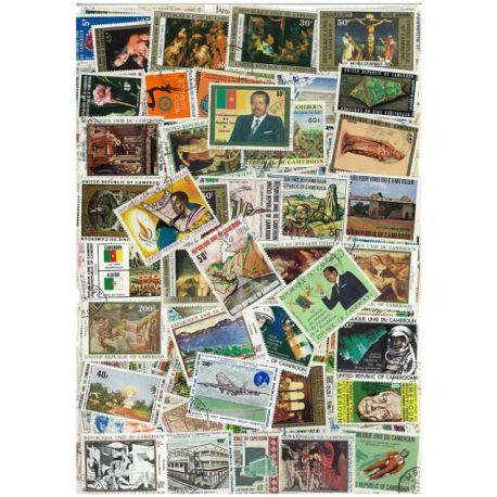 Cameroun - 25 timbres différents