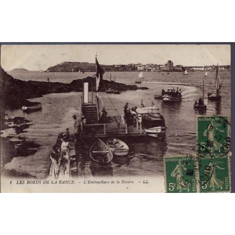 22 - Les bords de la rance - L' embouchure de la riviere - Voyage - Dos div...