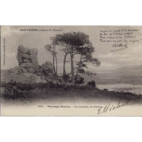 22 - Bretagne - Paysage breton - La lande, la greve - Voyage - Dos non divise