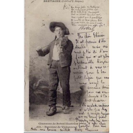22 - Bretagne - un homme et son violon -Voyage - Dos non divise
