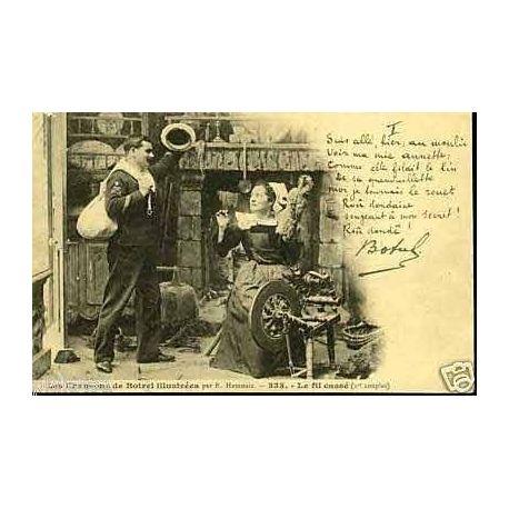 Carte postale 22 - Chansons de Botrel - Le fil casse Na?° 333