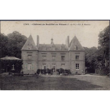 22 - Chateau de Bodiffet en Plemet - Non voyage - Dos divise...