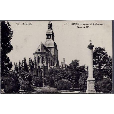 22 - Dinan - Abside de St-Sauveur - buste de Neel - Voyage - Dos divise...
