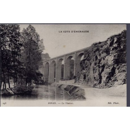 Carte postale 22 - Dinan - Le viaduc - Voyage - Dos divise...