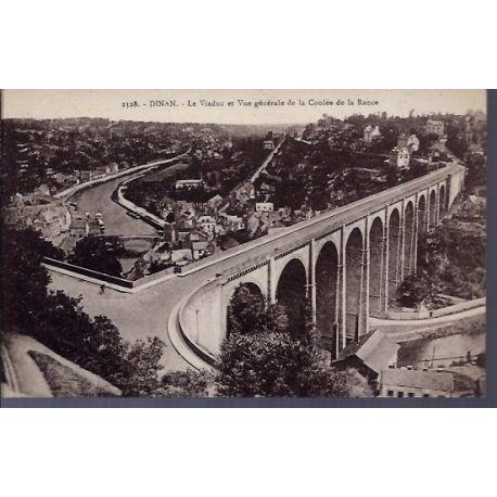 22 - Dinan - le Viaduc et vue generale de la coulee de la Rance - Voyage - D...