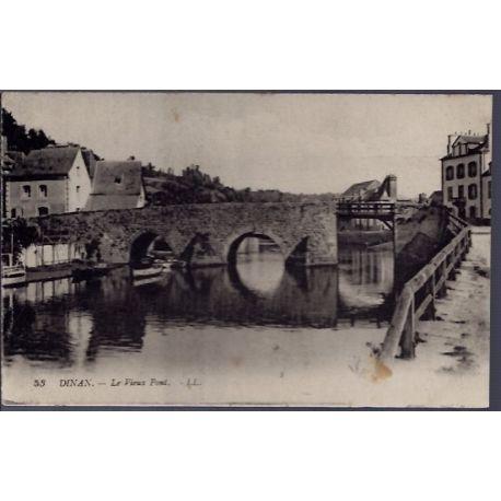 22 - Dinan - le vieux pont - Voyage - Dos divise...