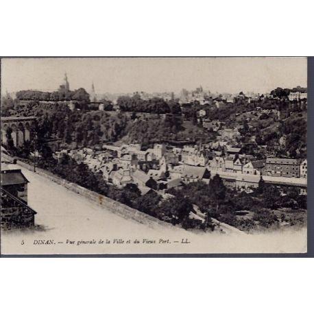 22 - Dinan - Vue generale de la ville et du vieux port - Voyage - Dos divise...
