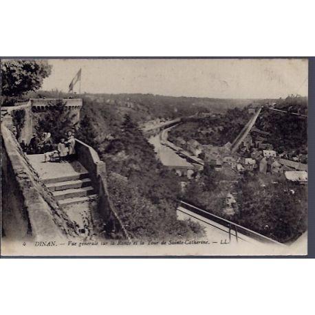 22 - Dinan - Vue generale sur la Rance et la tour de Sainte-Catherine - Voya...
