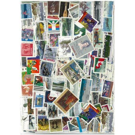 Kanada - 100 verschiedene Briefmarken