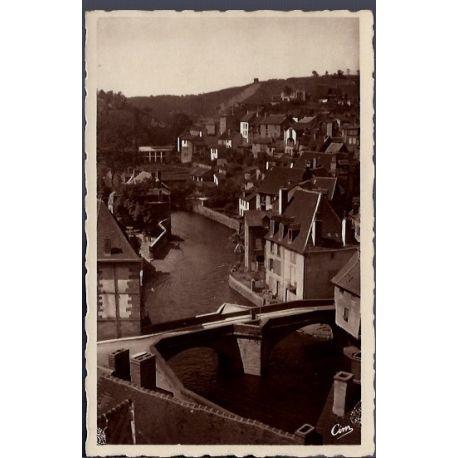 Carte postale 23 - Aubusson - Le vieux Pont de la Terrade - Voyage - Dos divise...