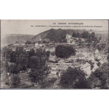 Carte postale 23 - Aubusson - Vue generale du Chapitre et quartier de la rue des Tanneurs...