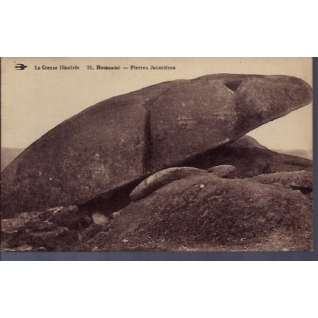 Carte postale 23 - Boussac - Pierres Jaumatres- Voyage - Dos divise...