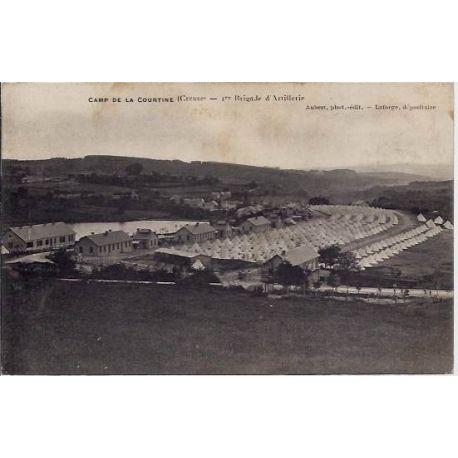 Carte postale 23 - Camp de la courtine (creuse) - 1ere brigade d'Artillerie - Voyage - Dos d