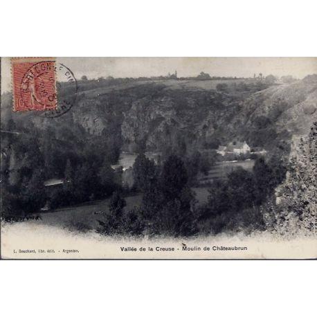 Carte postale 23 - Chateaubrun - Vallee de la Creuse - Moulin de Chateaubrun - Voyage - D...