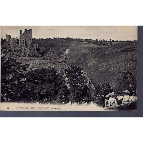 Carte postale 23 - Crozant - le chateau - Non voyage - Dos divise...