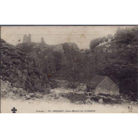 Carte postale 23 - Crozant - Vieux moulin sur la Cedelle - Non voyage - Dos non divise...
