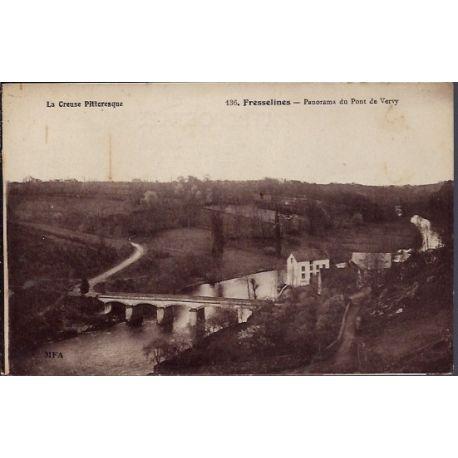 23 - Fresselines - Panorama du Pont de Vervy - Non voyage - Dos divise...