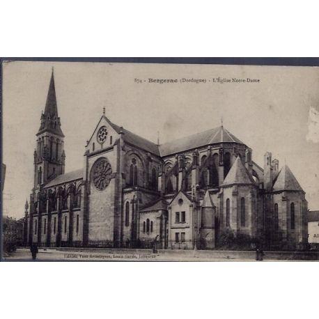 24 - Bergerac - L' eglise Notre-Dame -Voyage - Dos divise...