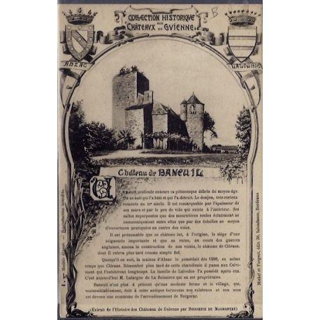 24 - Collection historique des Chateau de Gvienne -Chateau de Baneuil - Non...