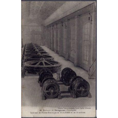 24 - Environs de Bergerac - Interieur de l'usine electrique de Tuilieres et...