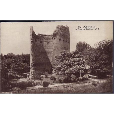 24 - Perigueux - La tour de Vesone - Non voyage - Dos divise...