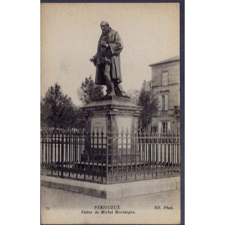 24 - Perigueux - Statue de Michel Montaigne - Non voyage - Dos divise...