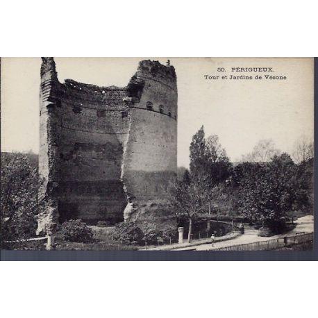 24 - Perigueux - Tour et jardins de Vesone - Non voyage - Dos divise...