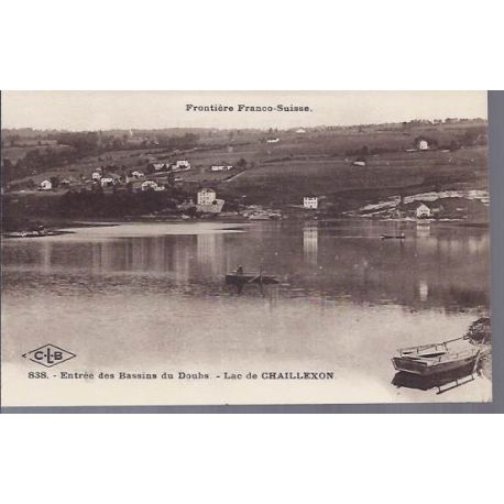 Carte postale 25 - Bassins du Doubs - Lac de Chaillexon
