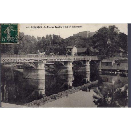 25 - Besancon - Le pont de Bregille et le Fort Beauregard - Voyage - Dos di...