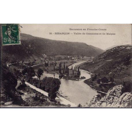 25 - Besancon - Vallee de Casamene et Ile Malpas - Voyage - Dos divise...