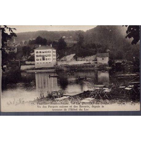 25 - Frontiere Franco-Suisse - les Bassins du Doubs - Vu des Pargots suisse...