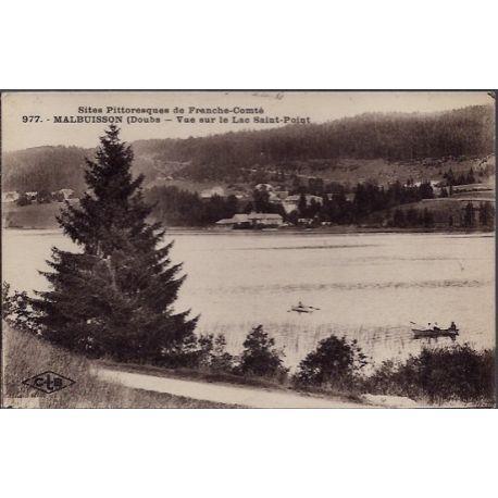 25 - Malbuisson - Vue sur le Lac Saint-Point - Voyage - Dos divise...