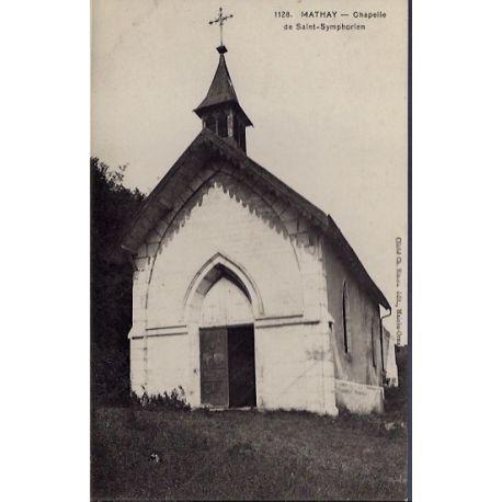 25 - Mathay - Chapelle de Saint-Symphorien - Non voyage - Dos divise...