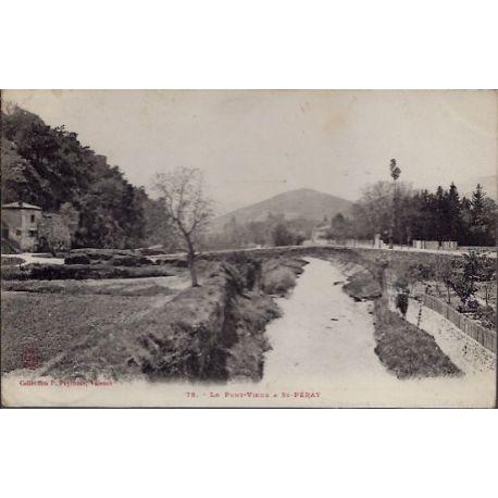 Carte postale 26 - St-Peray - le Pont-vieux - Voyage - Dos divise...