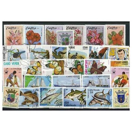 Kap Verde - 25 verschiedene Briefmarken